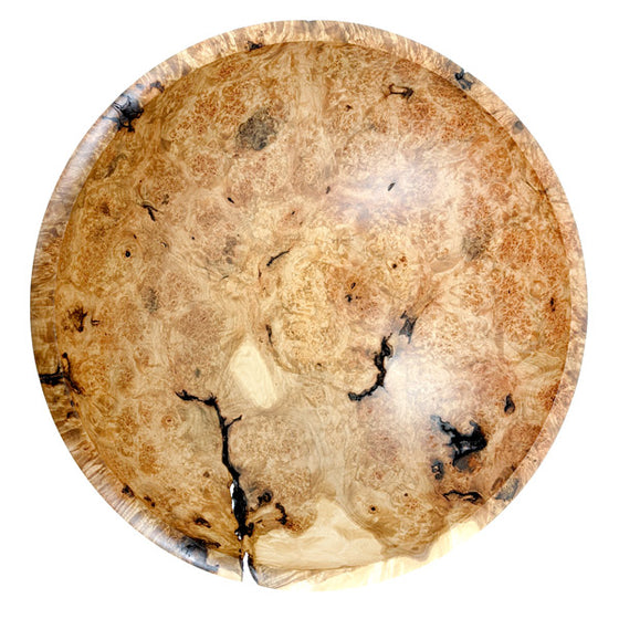 Maple Burl Bowl: Champlain 12 Inch (Red Grain)