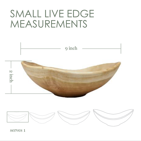 Small Live Edge (oval) Bowl