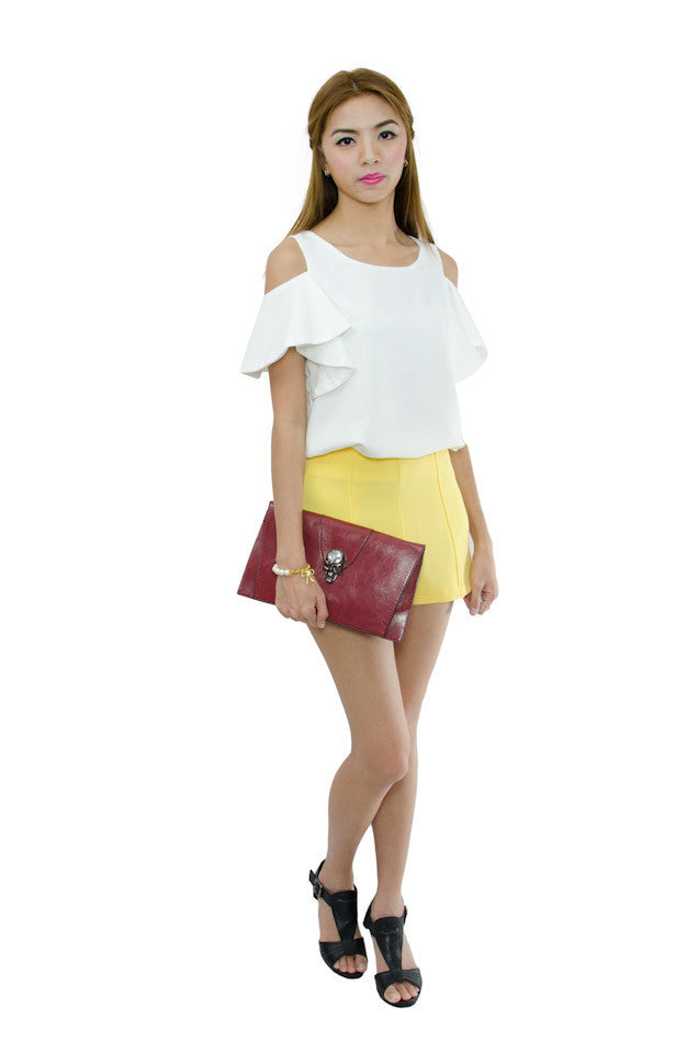 Cathy Shorts Yellow 2