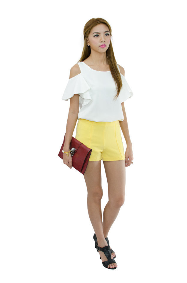 Cathy Shorts Yellow 4