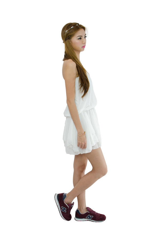 Hilda Tube Dress White