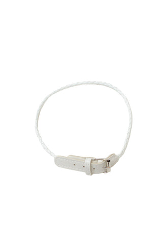 Abby Leather Bracelet White