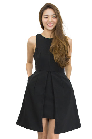 Kiffy Dress Black, Le Summer, front view