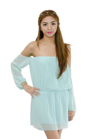 Katie Off Shoulder Mint