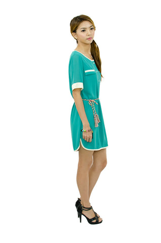 Teal Runway Dress