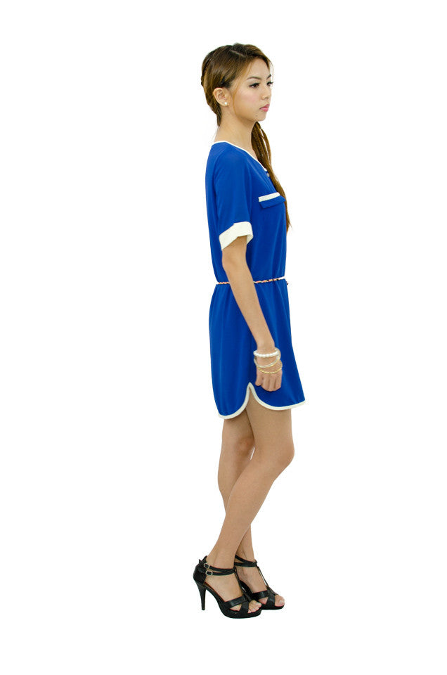 Electric Blue Runway Dress