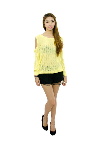 Knitted Top Yellow