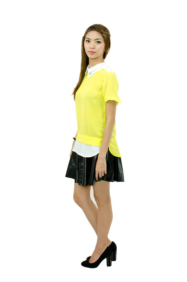 Elle Yellow Top
