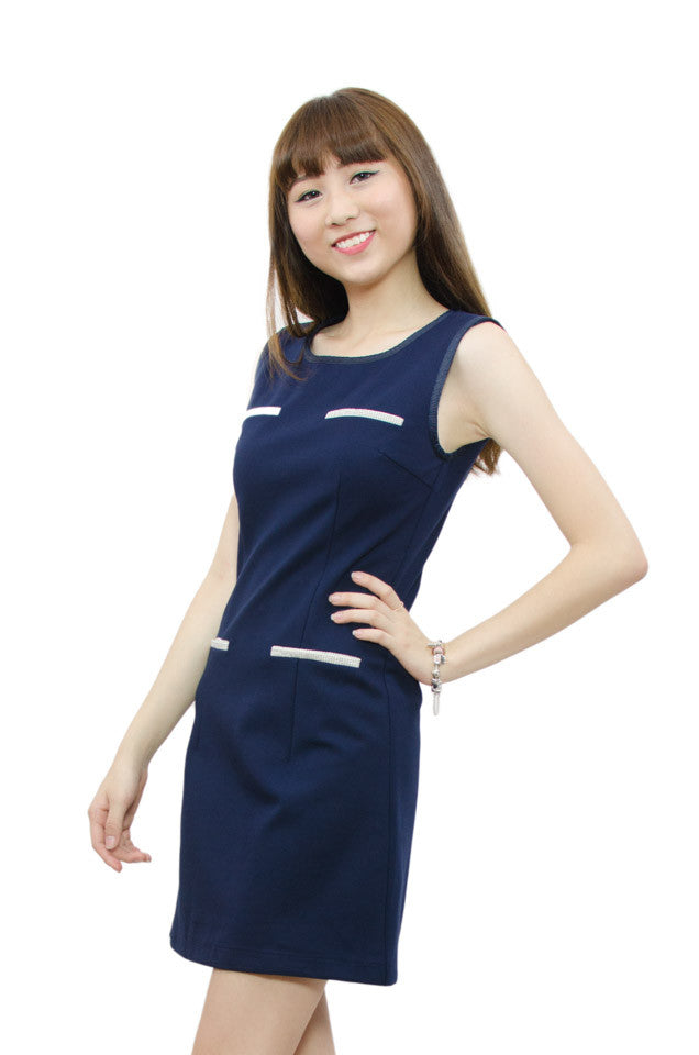 Dalila Slim Fit Navy