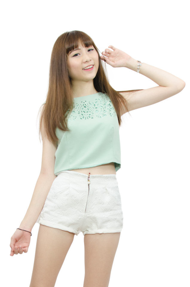 Lia Mint Cropped Top