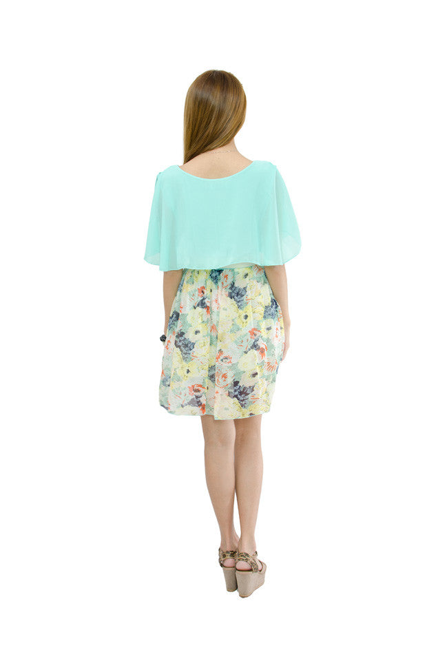 Stella Floral Dress Mint