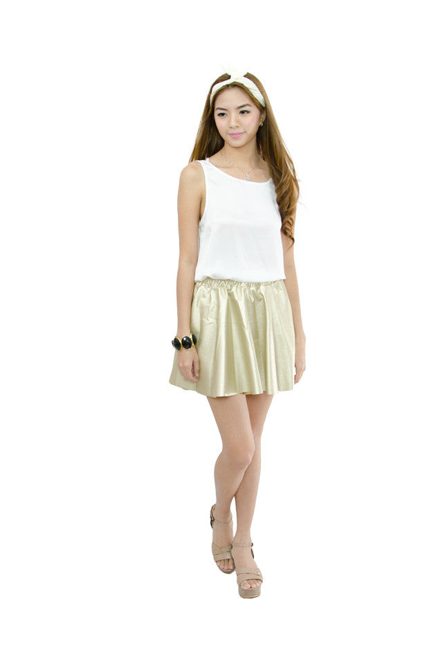 Mia Skirt Matte Gold