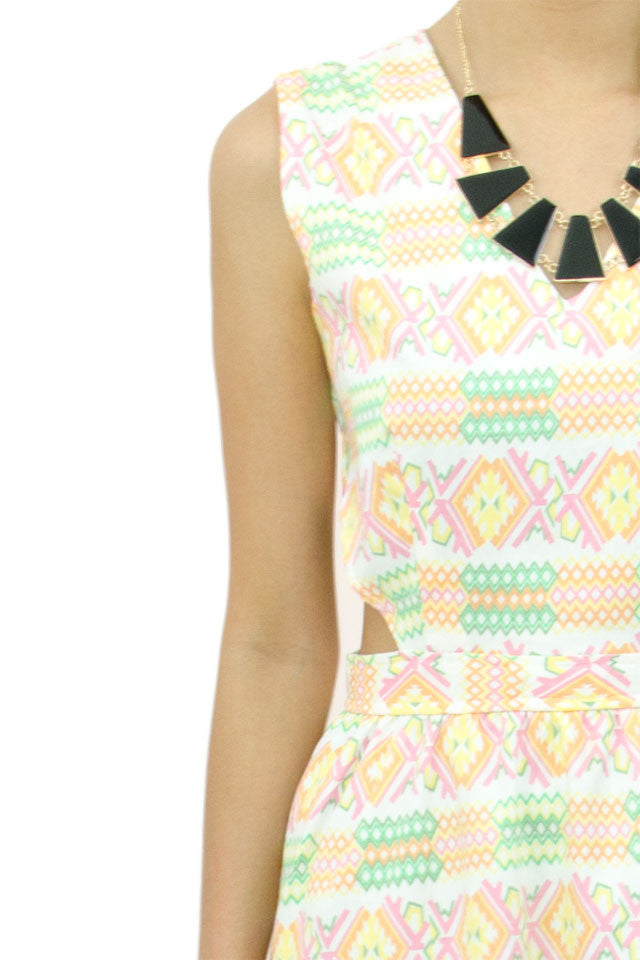 Cut In Aztec Dress