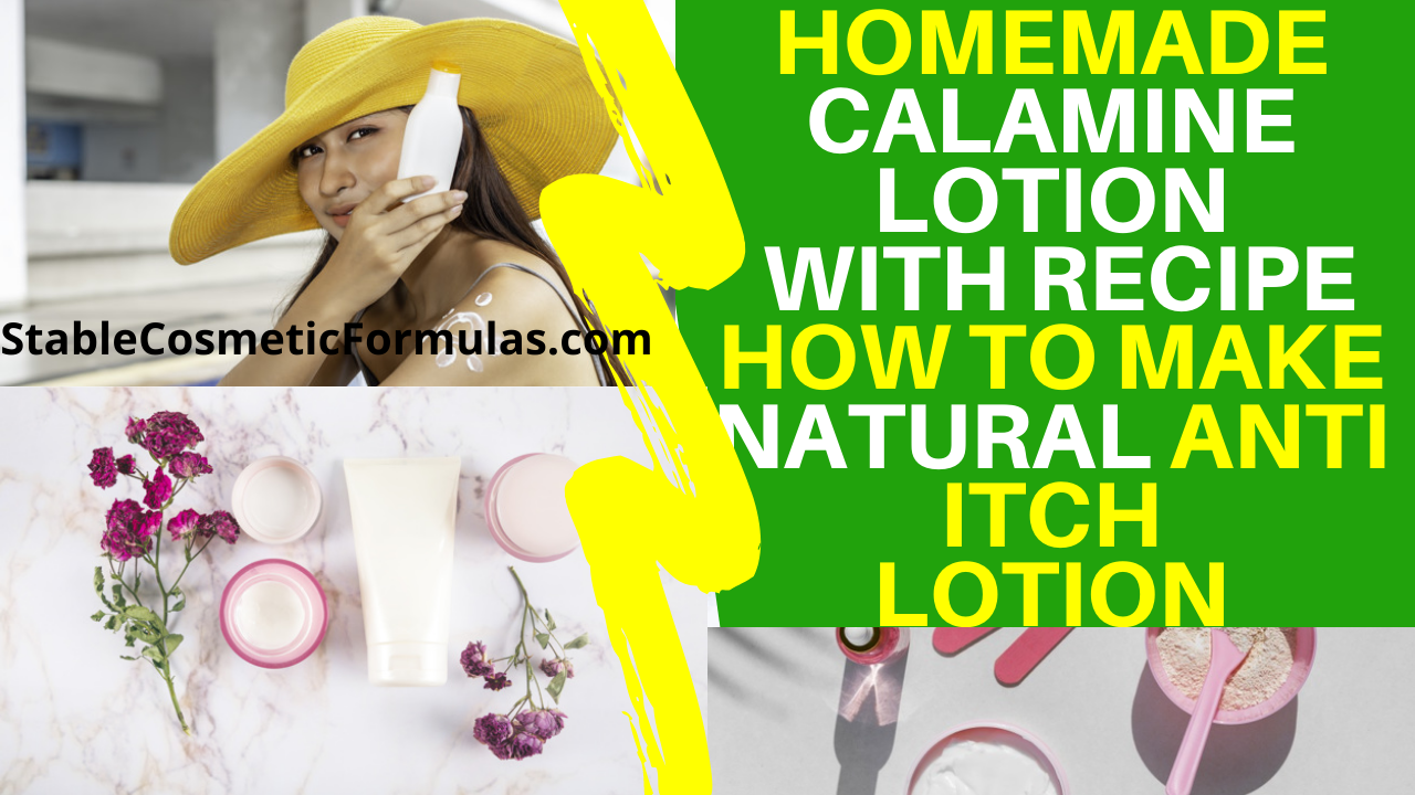 DIY Calamine Lotion Recipe With Instructional Video Easy To Follow Text