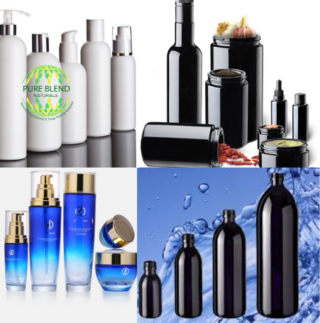 Cosmetic Packaging, Glass, PET & HDPE Plastics