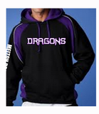 ADULTS - Melton Dragons Basketball Club Hoodie PURPLE/BLACK