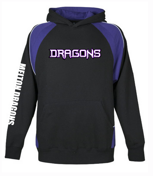 KIDS - Melton Dragons Basketball Club Hoodie PURPLE/BLACK