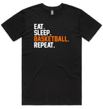 Eat Sleep Basketball Repeat 2 Tshirt Preorder