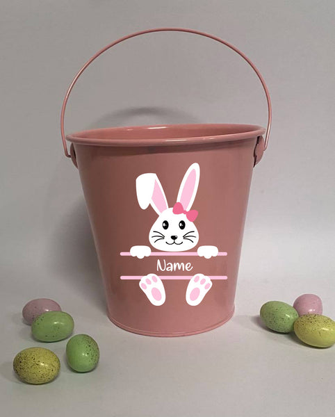 Personalised Easter Buckets Bunny 1