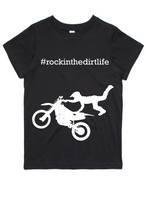 #rockinthedirtlife Kids Tshirt
