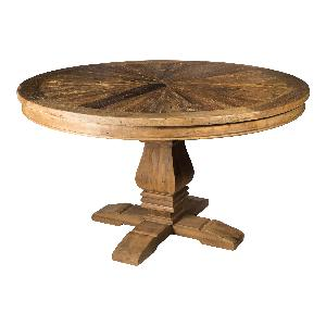 Elm brown wooden round diningtable KD
