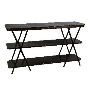 Dazzle black Iron small etagere rectangle