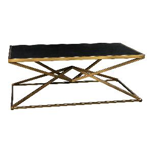 Miyo dark Glass gold Iron rectangle coffeetable