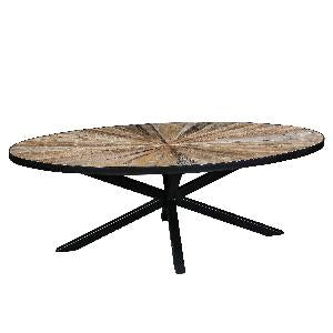 Cleme ovale Elm brown coffeetable 687713