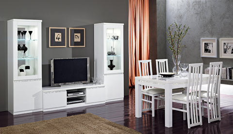 Woonkamer Set Roma Chrome Wit