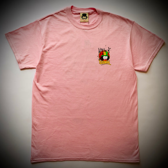 DREADY: FUCK RACISTS TEE (PINK)