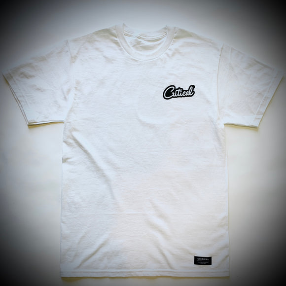 CRITICAL MUSIC: LOGO TEE (WHITE)