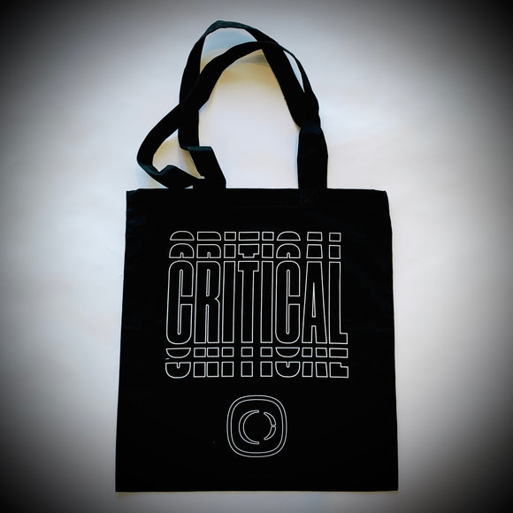 CRITICAL MUSIC: TOTE BAG (BLACK)