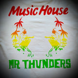 MR THUNDERS: MUSIC HOUSE TEE (WHITE)