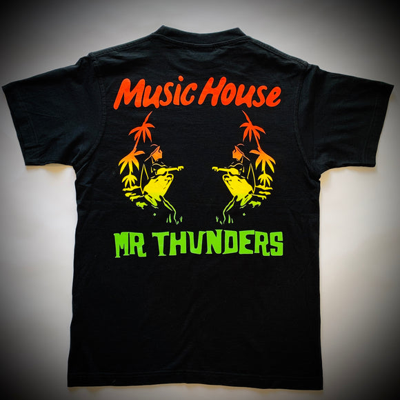 MR THUNDERS: MUSIC HOUSE TEE (BLACK)