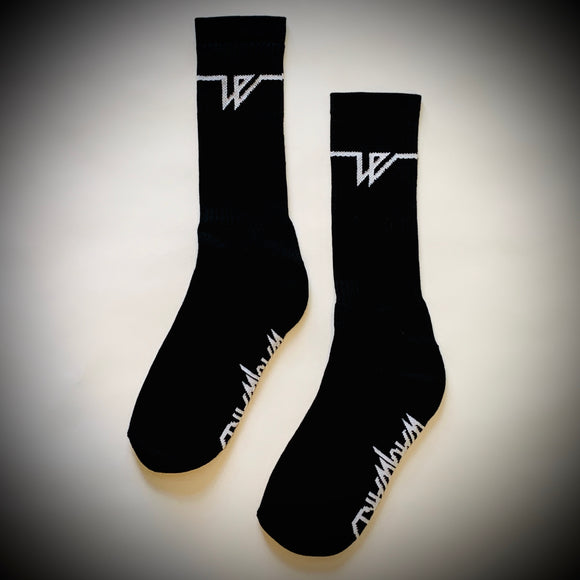 WAYWARD LONDON: LOWGO SOCKS (BLACK)
