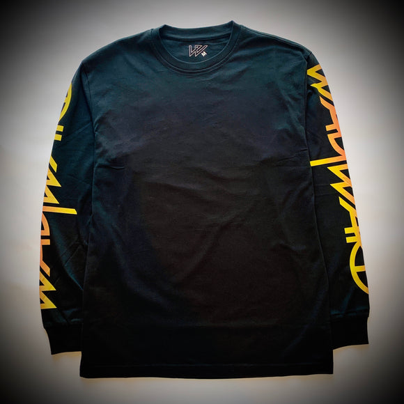 WAYWARD LONDON: FLAMIN WAYSLEE LS TEE (BLACK)