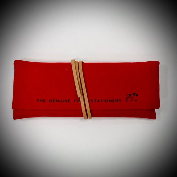 HIGHTIDE STATIONARY: FIELD ROLL PENCIL CASE (RED)