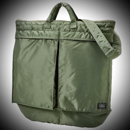 PORTER YOSHIDA & CO: HELMET BAG (SAGE GREEN)