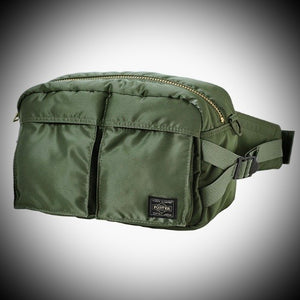 "PORTER YOSHIDA & CO: ""TANKER"" WAISTBAG  (SAGE GREEN)"
