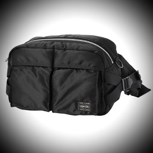 "PORTER YOSHIDA & CO: ""TANKER"" WAISTBAG  (BLACK)"