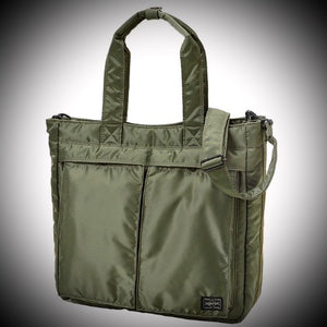 "PORTER YOSHIDA & CO: ""TANKER"" 2-WAY TOTE (OLIVE)"