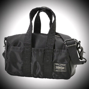 "PORTER YOSHIDA & CO: ""HOWL"" MINI BOSTON BAG (BLACK)"