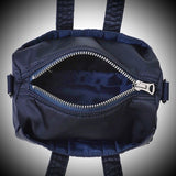 "PORTER YOSHIDA & CO: ""HOWL"" MINI BOSTON BAG (NAVY)"