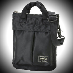 "PORTER YOSHIDA & CO: ""HOWL"" MINI HELMET BAG (BLACK)"