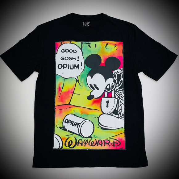 WAYWARD LONDON: OPIUM FLASHBACK TEE (BLACK)