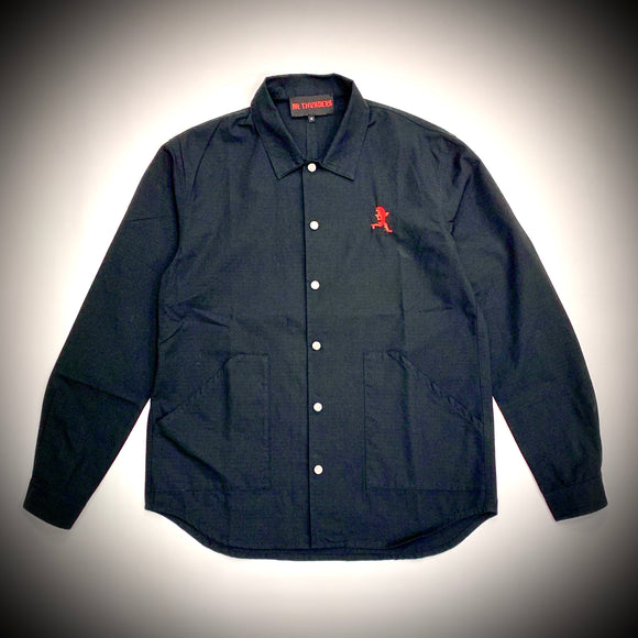 MR THUNDERS: RIPSTOP SHACKET (BLACK)