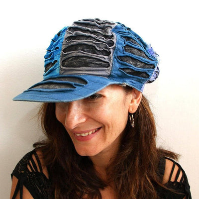 Summer Hippie Hat - Peaked cCap - Sun cotton hat
