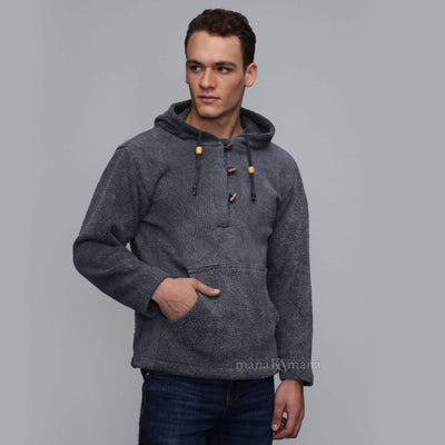 Men's sweater hoodie baja hoodie hippie pullover - mens festival clothing -  mens cotton sweater