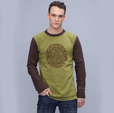 Men's long sleeve T shirt , Very soft, Cozy cotton full sleeve t-shirt