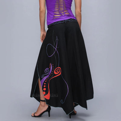 Flare Skirt pants - Funky Trousers  Woman Wide pants